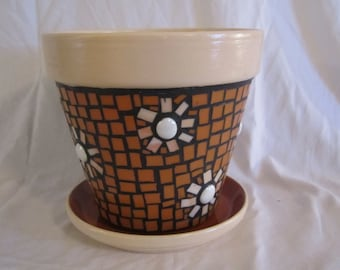 Mosaic Flower Pot, Garden Art