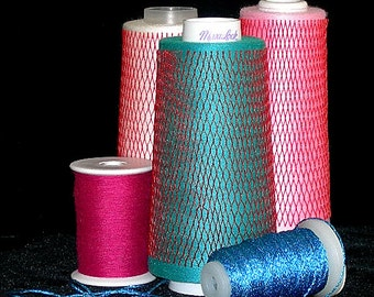Thread Nets – 8 nets to keep cone thread tangle free - and so organized!  Great for woolly nylon and decorative threads too.