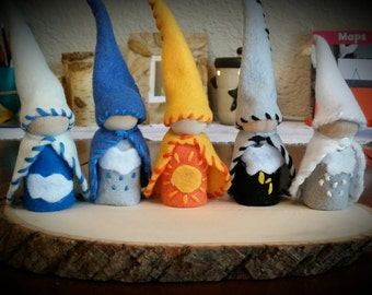 Waldorf inspired Weather Gnomes