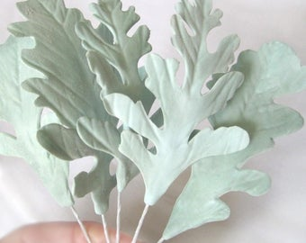 Dusty Miller Leaves - gumpaste filler flowers cake toppers gum paste decoration