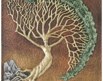Rowan Tree - Cast Paper - Norse - First Woman - Goddess - Celtic Astology