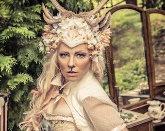 Königin des Waldes 10 Punkt Geweih Kopfschmuck