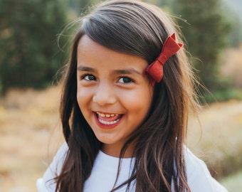 Christmas bows - Christmas headbands - Holiday hair clips - winter bows Felt flower headband : newborn/baby/toddler headband - photo prop