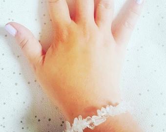 Clear Quartz Crystal Bracelet, Clear Quartz Necklace, Clear Quartz Bracelet, Clear Quartz Jewellery, Clear Quartz Gemstone Bracelet