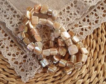 50 Pcs.Beautiful Shell Beads Dyed, Ivory, AB Colour