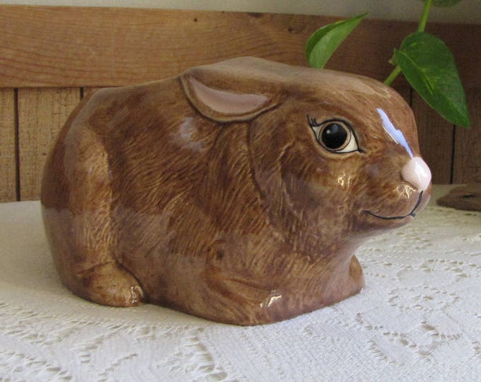 Rabbit Planter Brown Bunny Vintage Indoor Planters and Pots Succulent and Plants