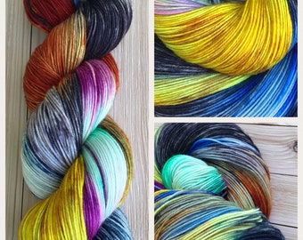 Hand dyed yarn Variegated sock weight 463 yards