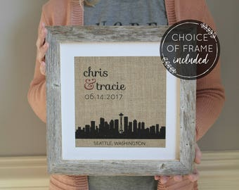 Personalized Wedding Gift | Wedding Gifts for Couple | Husband Gift Boyfriend Gift | Valentines Day Gift | Engagement Gift | Choose A City