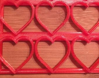 Heart Cookie Cutter Half Sheet