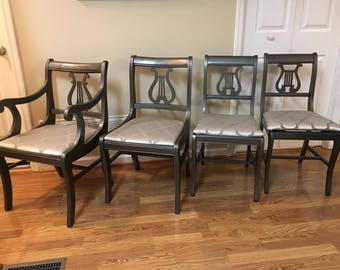 Duncan Phyfe Lyre Back Dining Chairs
