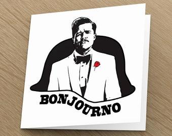 Inglorious Basterds card - Quentin Tarantino print, Brad Pitt, funny greeting cards unique Birthday boyfriend friend husband funny Christmas