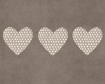 Double 'hearts' original design handmade 15cm x 15cm
