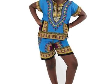 African Kouture Kids Short Set
