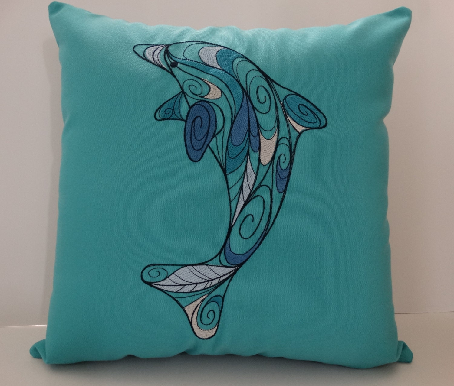 dolphin embroidered pillows listing au cover il fullxfull zoom sunbrella beach pillow x