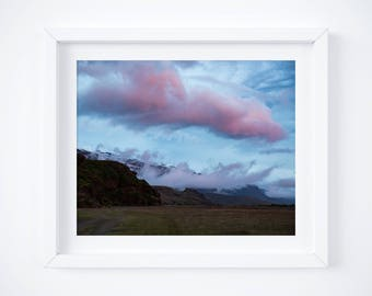 Stages of an Iceland Summer Sunset 3 -  Clouds sky print - Photo print - Dreamy colorful photo - Nature home decor - Pink purple wall art