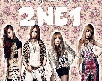 2NE1 Birthday Card, Kpop, YG, Bigbang, CL, Dara, Bom, Minzy
