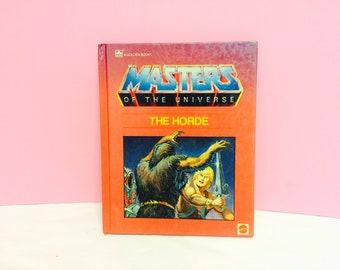 Masters of the Universe, The Horde Book, Vintage MOTU, 1980s Golden Books, He-Man Book, Skeletor Book, Children's Book, 1980s Action Figures