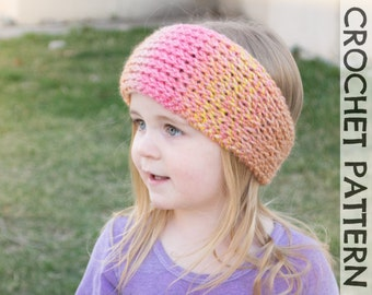 CROCHET PATTERN: Snowplow Tunisian Headwrap