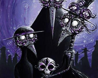 "Plague Doctor Family 5""x7"" art print"