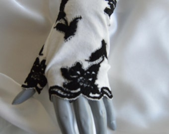 Ivory short lace, lace gloves fingerless gloves short ivory gloves, ivory gloves, short gloves, short gloves, ivory cuff