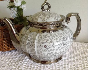 Silver Luster Ware Teapot - Japan 1950s