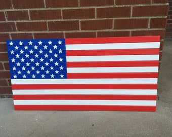 wooden flag, old glory, american flag, handmade, hand painted, outdoor, indoor, flag, wall hanging