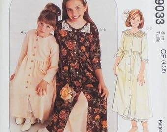 Children's & Girls' Dress and Slip Pattern - Sizes 4, 5, 6 - McCall's 9033 Special Moments Pattern