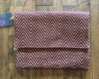 SALE - Burgundy Wine Envelope Clutch - Ready to ship