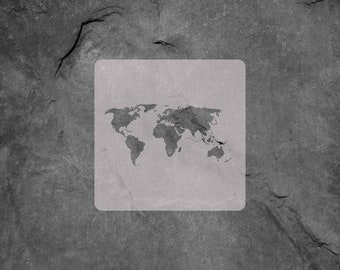 World map stencil etsy world map stencildiy craft stencilscrapbooking stencilcookie stencil wall art gumiabroncs Images