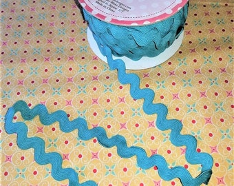 "3/4"" Riley Blake Design Sew Together Ric Rac -Teal BTY"
