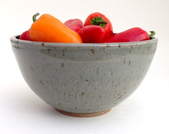 20 oz. Blue and Grey Stoneware Chatter Bowl