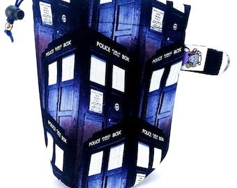 Studio Tot  - Tiny Project Bag - Dice Bag - Doctor Who TARDIS