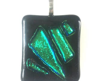 Dicroic Pendant with Sterling Silver Bail #3