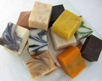 Organic Soap Sampler Set, 6 Half Bars, Vegan, Cold Process
