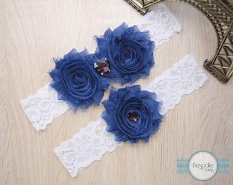 Wedding Accessories, Wedding Garter, Bridal Garter Set, Something Blue, Blue Garter, Blue Wedding Garter, Blue Bridal Garter, Lace Garter