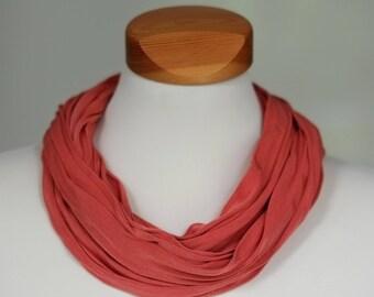 Silk-loop-scarf Bufanda, dark-orange