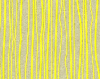 Alison Glass Diving Board ALN 8640 Y Sunny Seagrass cotton linen fabric