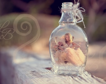 Message in a bottle Instant DIGITAL templatedownload for photos,work in photoshop/instruction sheet download template add to your business