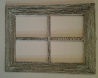 Old weatherwood window frame