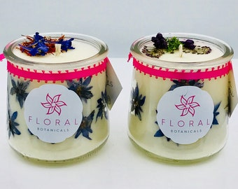 Dark Waters Flower Candle