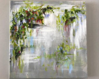 Impressionist Botanical  Acrylic Painting