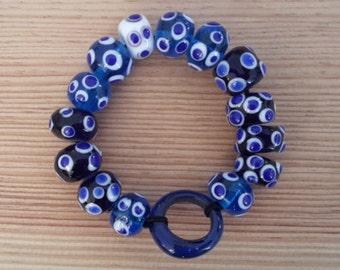 Celtic glass bead bracelet (4th century BC)