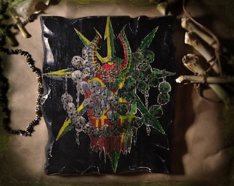 Warhammer 40000 War Hammer 40 thousand 40k  The star of chaos Chaos Heresy Wall decal Panels on the wall Decor for walls