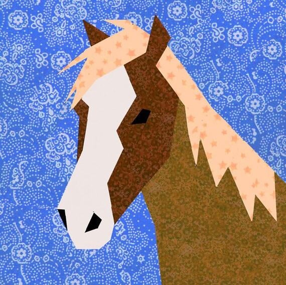 Horse Quilt Block Paper Pieced Quilt Pattern Pdf Pattern