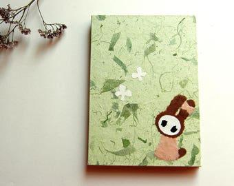 "Accordion Photo Album ""Bunny"" Mulberry Paper light green"