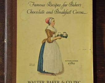 Vintage 1928 Baker's chocolate and cocoa recipe booklet