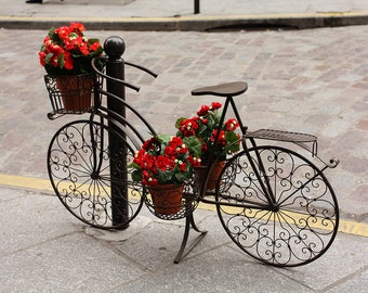 Paris Photography, Spring in Paris, Bike with Red Flowers in Paris, paris decor, paris bike photo, Paris Cafe