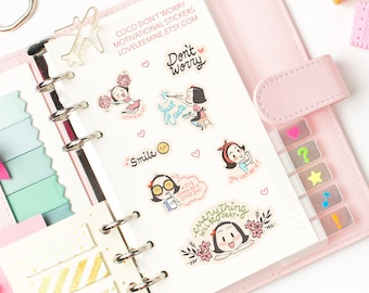 CoCo Don't Worry Motivational Planner Stickers (Large Sheet)