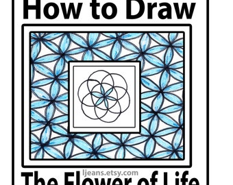 How to Draw Easy Geometry Flower of Life Tutorial
