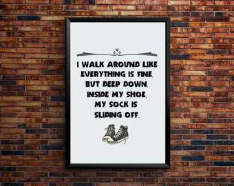 I walk around | Printable Art, downloadable posters and prints | PSD Cut File | Digital Download